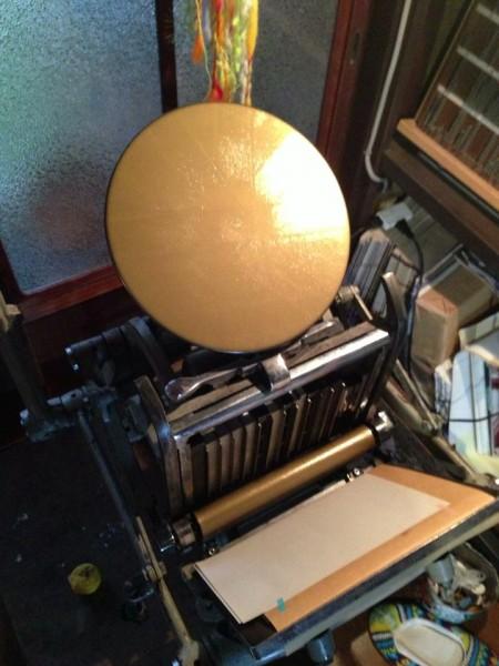 organ活版印刷室 手フート(テキン)
