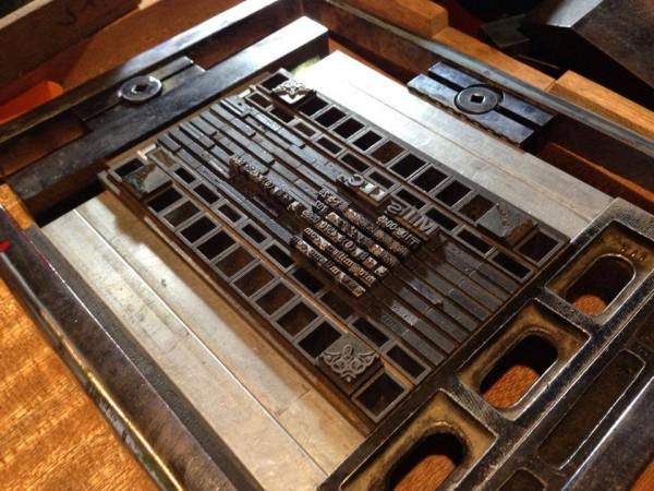 organ活版印刷室 組版