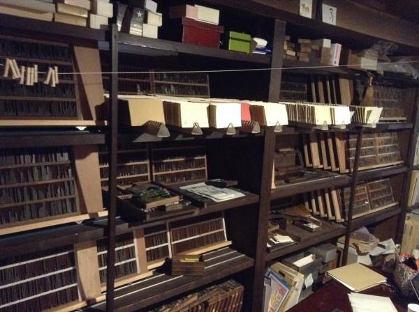 organ活版印刷室 活字棚